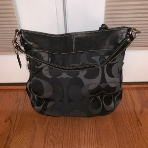 Black Monogram Coach Handbag